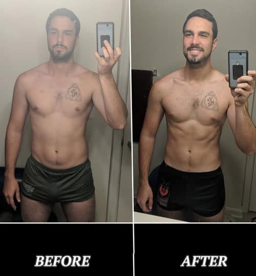 Ross 30 Day Challenge Before and After Photo